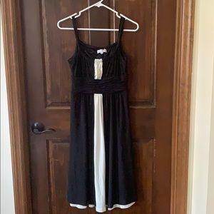 Dressy black and white dress